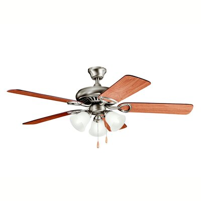 52 Sutter Place Premier 5-Blade Ceiling Fan Finish: Antique Pewter with Dark/Light Cherry Blades