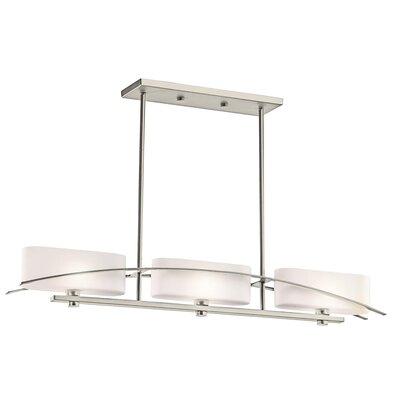 Jadon 3-Light Linear Pendant Finish: Brushed Nickel