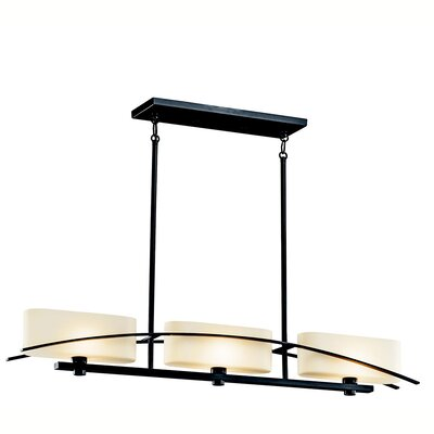 Jadon 3-Light Linear Pendant Finish: Black (Painted)