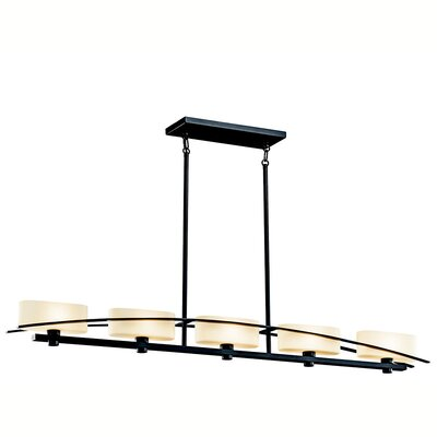 Suspension 5-Light Drum Pendant Finish: Black (Painted)