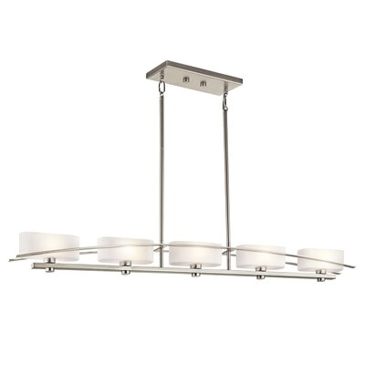 Suspension 5-Light Drum Pendant Finish: Brushed Nickel