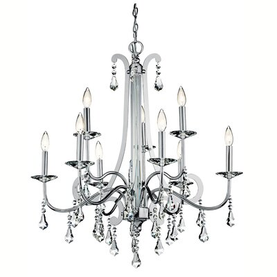 Bowmin 9-Light Crystal Chandelier