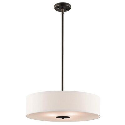 Mohnton 3-Light Drum Pendant Finish: Olde Bronze