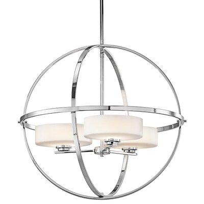 Scoles 3-Light Globe Pendant Finish: Chrome