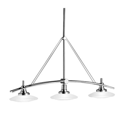 Structures 3-Light Kitchen Island Light Finish: Brushed Nickel