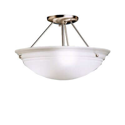 Bodnar 10 3-Light Semi Flush Mount Finish: Brushed Nickel