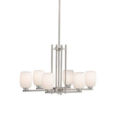 Eileen Gray Island 6-Light Shaded Chandelier Finish: Brushed Nickel