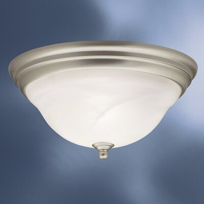 Ruhlman 2-Light Flush Mount Finish: Brushed Nickel