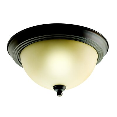 2-Light Flush Mount Finish: Olde Bronze