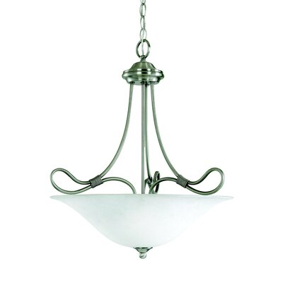 Stafford 3-Light Inverted Pendant Finish: Antique Pewter