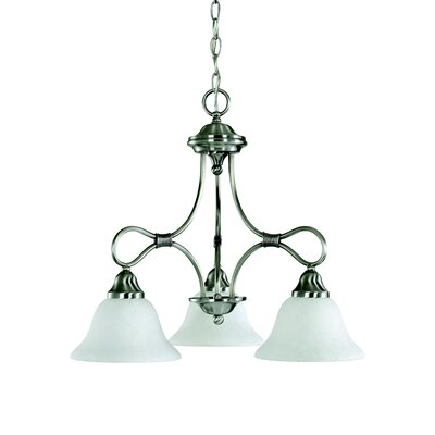 Stafford 3-Light Shaded Chandelier