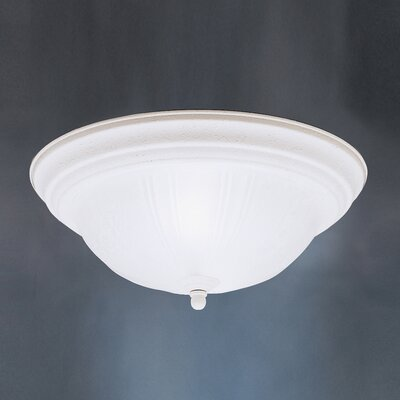 Brushed Nickel Incandescent  Flush Mount Finish: Stucco White, Size: 5.5 H x 13 W