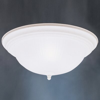 Brushed Nickel Incandescent  Flush Mount Finish: Stucco White, Size: 6.5 H x 15 W