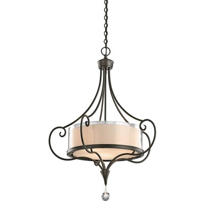Lara 3-Light Drum Pendant Finish: Shadow Bronze