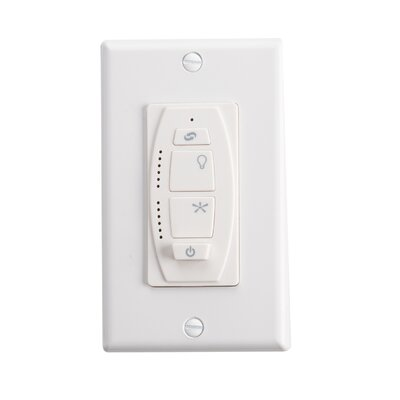 6 Speed DC Wall Transmitter Finish: Ivory