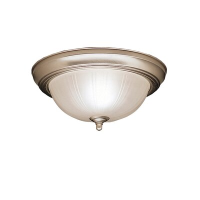 Brushed Nickel Incandescent  Flush Mount Finish: Stucco White, Size: 5.5 H x 11.5 W