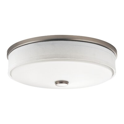 Dodie 2-Light LED Flush Mount Finish: Brushed Nickel, Size: 4.25 H x 17.3 W x 17.3 D, Bulb Type: Fluorescent