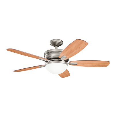 52 Carlson 5-Blade Ceiling Fan Finish: Antique Pewter with Dark/Light Cherry Blades