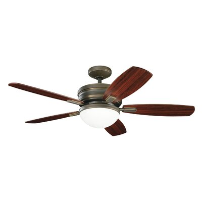 52 Lien 5-Blade Ceiling Fan Finish: Oiled Bronze with Cherry/Mahogany Blades