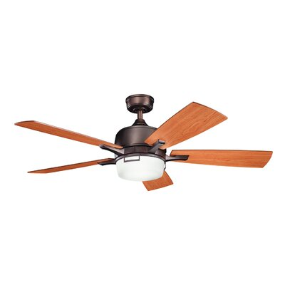 52 Bonifant 5 Blade Ceiling Fan Finish: Oil Brushed Bronze with Cherry/Walnut Blades