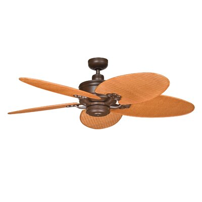 Low Price 52 inches Crystal Bay 5 Blade Ceiling Fan Finish: Tannery Bronze