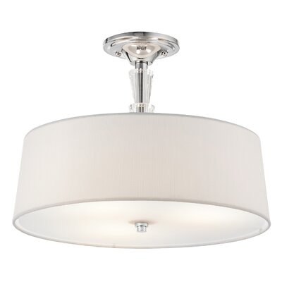 Crystal Persuasion 3-Light Semi Flush Mount