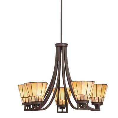 Morton 5-Light Shaded Chandelier