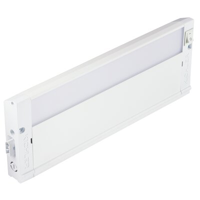 4U Series 2700K LED 12 Under Cabinet Bar Light Finish: Textured White