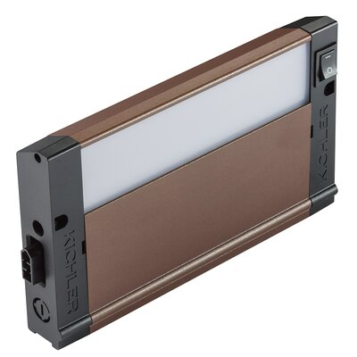 4U Series 3000K LED 8 Under Cabinet Bar Light Finish: Bronze Textured