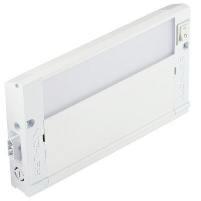4U Series 2700K LED 8 Under Cabinet Bar Light Finish: Textured White