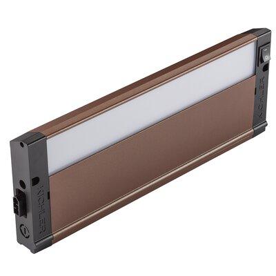 4U Series 3000K LED 12 Under Cabinet Bar Light Finish: Bronze Textured