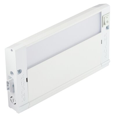 4U Series 3000K LED 8 Under Cabinet Bar Light Finish: Textured White