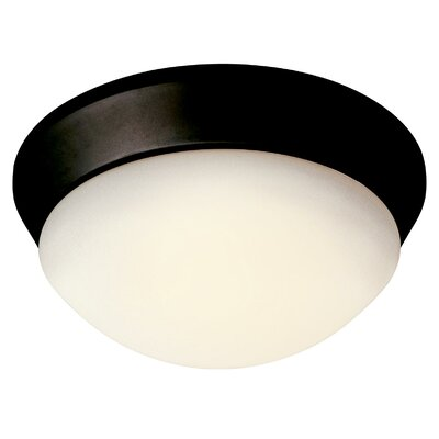 1-Light Flush Mount Finish: Brushed Nickel, Bulb Type: Fluorescent