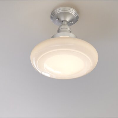 Keller 1-Light Schoolhouse Pendant Finish: Brushed Nickel