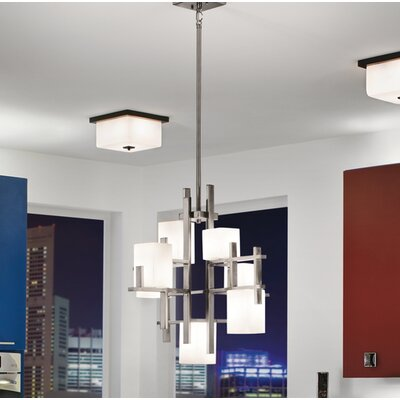 City 7-Light Shaded Chandelier