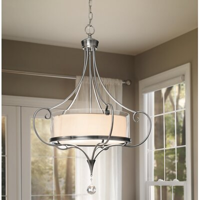 Lara 3-Light Drum Pendant Finish: Classic Pewter