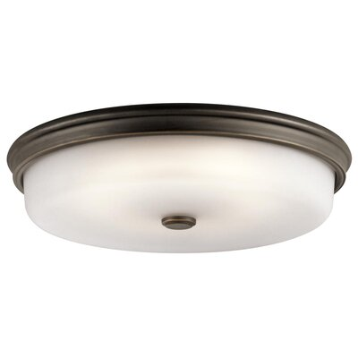 Lansbury 1-Light Flush Mount Finish: Olde Bronze