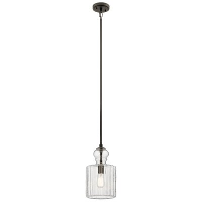 Cambree 1-Light Mini Pendant Size: 16 H x 9 W x 9 D, Finish: Brushed Nickel