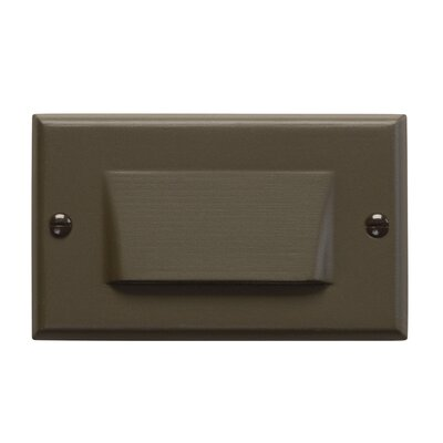 Step and Hall 4.5 Interior Shield Step Light Finish: Architectural Bronze