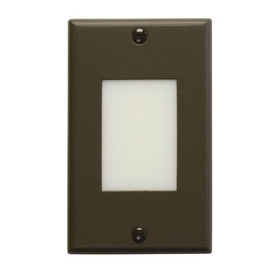 Step and Hall 2.75 Interior Lens Step Light Finish: Architectural Bronze
