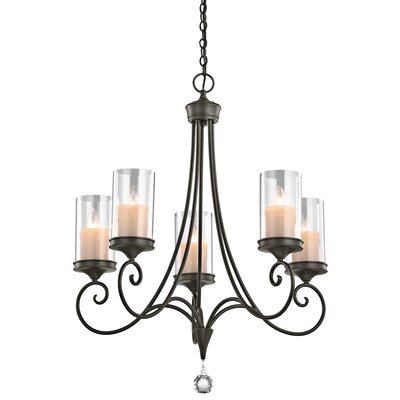Laurel 5-Light Candle-Style Chandelier Finish: Shadow Bronze