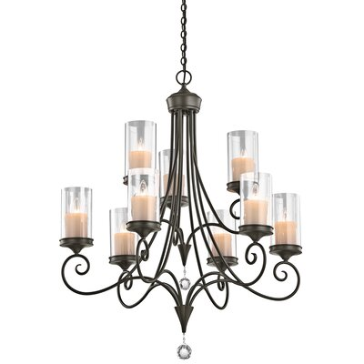 Laurel 9-Light Candle-Style Chandelier Finish: Shadow Bronze