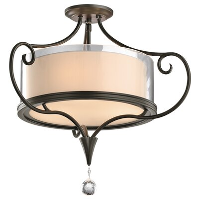 Laurel 2-Light Semi Flush Mount Finish: Shadow Bronze