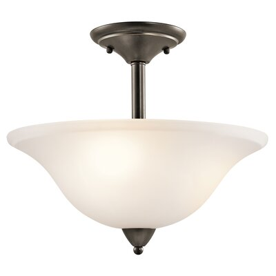 Ledbetter 3-Light Semi Flush Mount Finish: Olde Bronze
