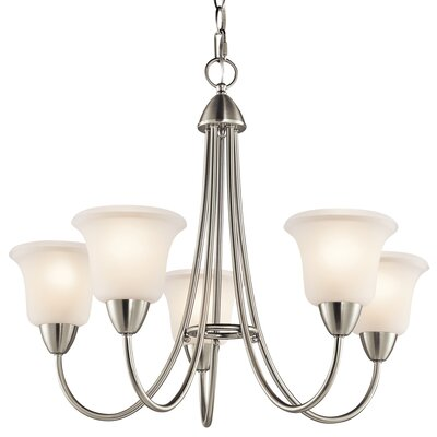 Nicholson 5-Light Shaded Chandelier Finish: Brushed Nickel