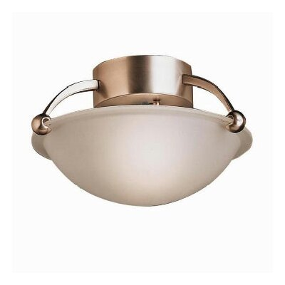 Tannery Bronze IncandescentSemi Flush Mount