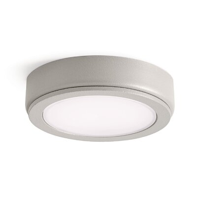 4D Disc LED Under Cabinet Puck Light Finish: Nickel Textured, Color Temperature: 2700