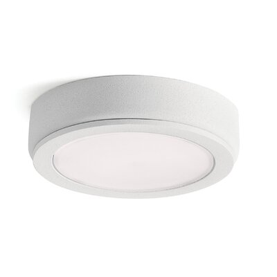 4D Disc LED Under Cabinet Puck Light Finish: Textured White, Color Temperature: 2700