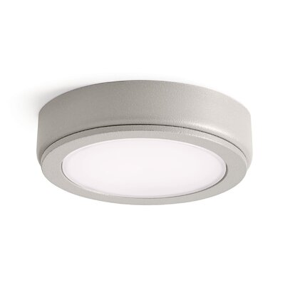 4D Disc LED Under Cabinet Puck Light Finish: Nickel Textured, Color Temperature: 3000