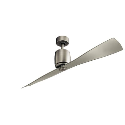 60 Ferron 2-Blade Ceiling Fan Finish: Brushed Nickel
